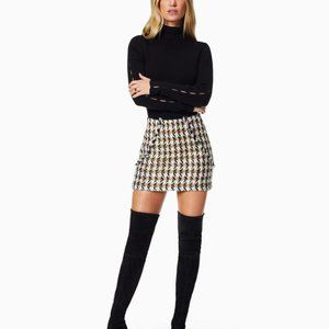 Ramy Brook Houndstooth Mini Skirt